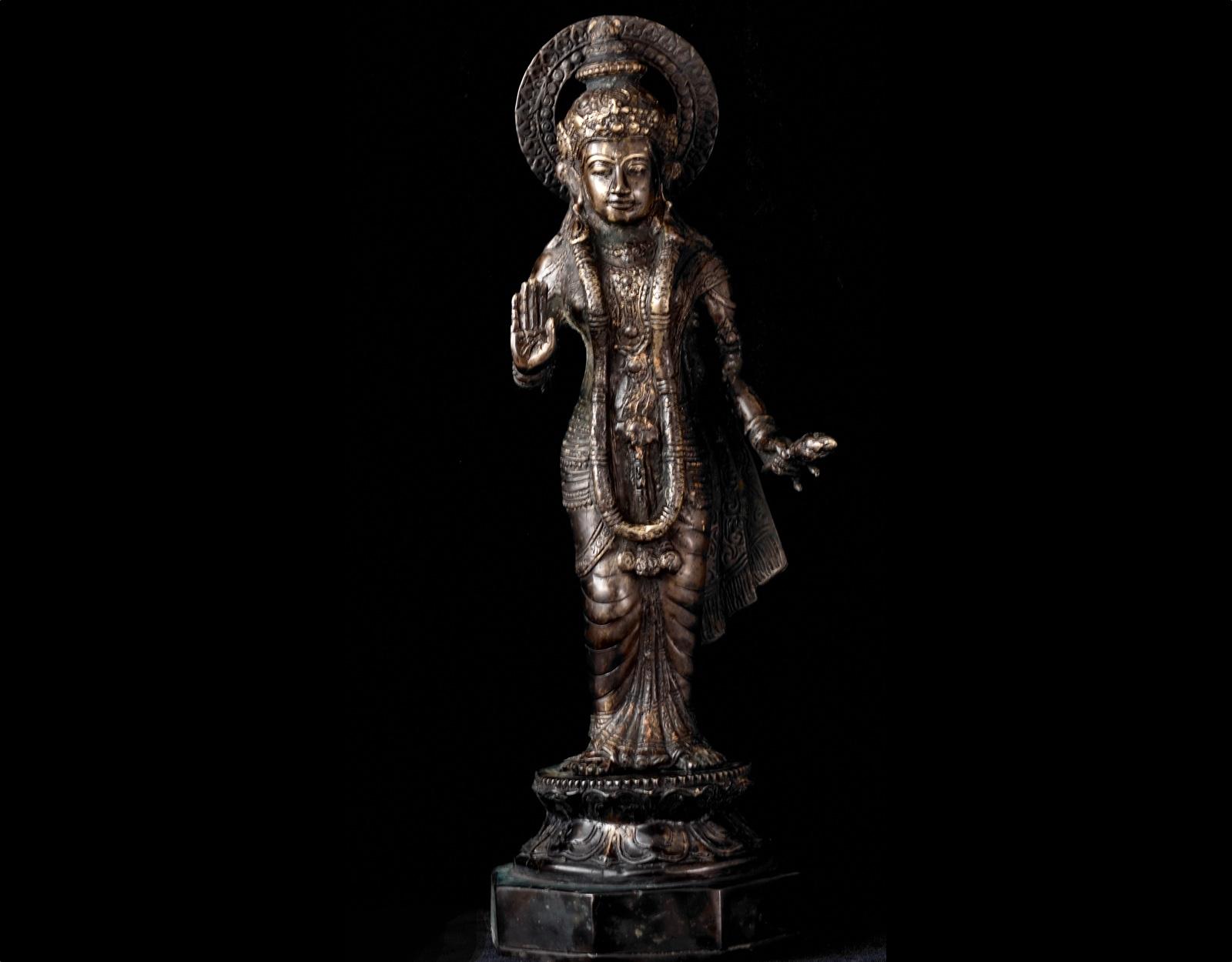 Бронзовая статуэтка Кришна 34 cm фото VipKeris