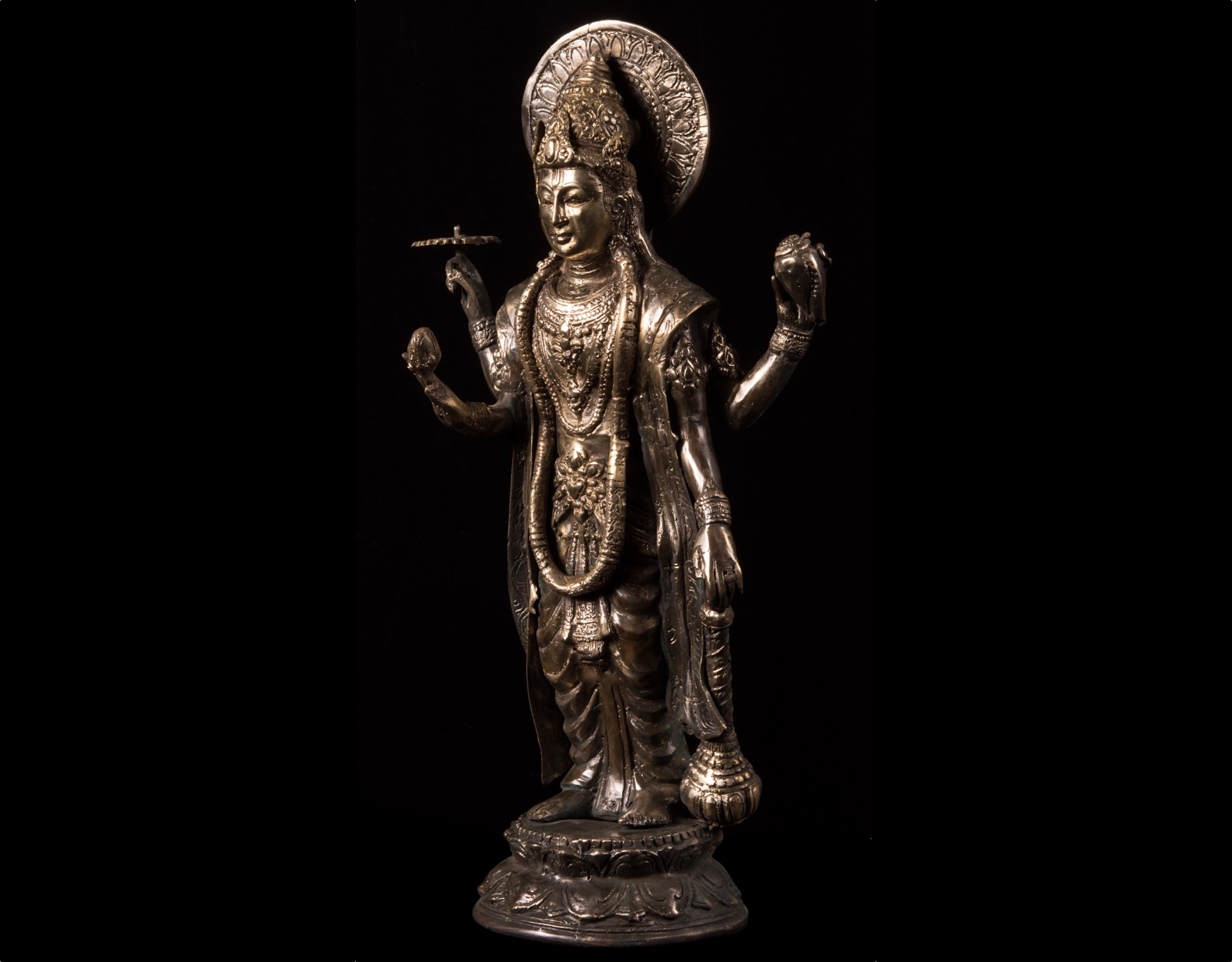 Бронзовая статуэтка Вишну, 33 см. фото VipKeris