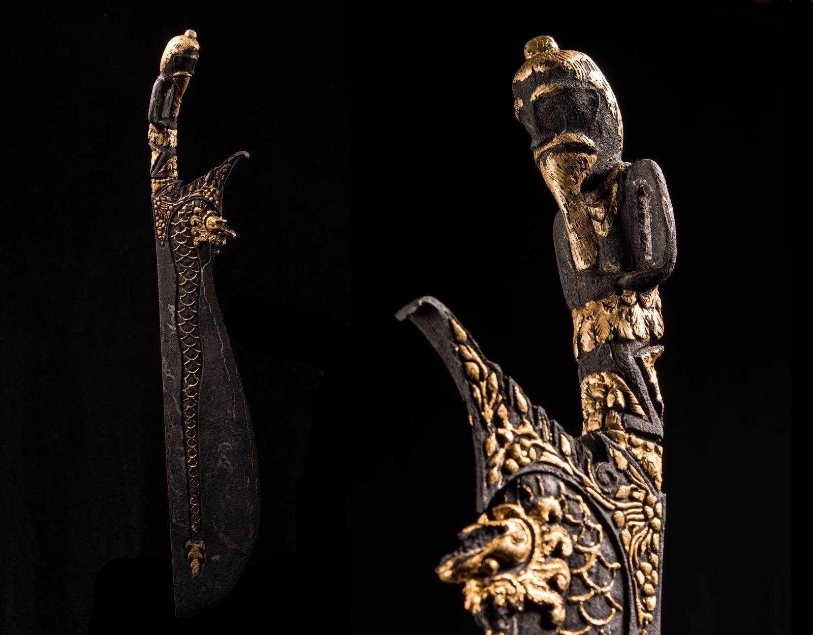 Ритуальный кинжал Wedung (Dragon Kinatah) фото VipKeris