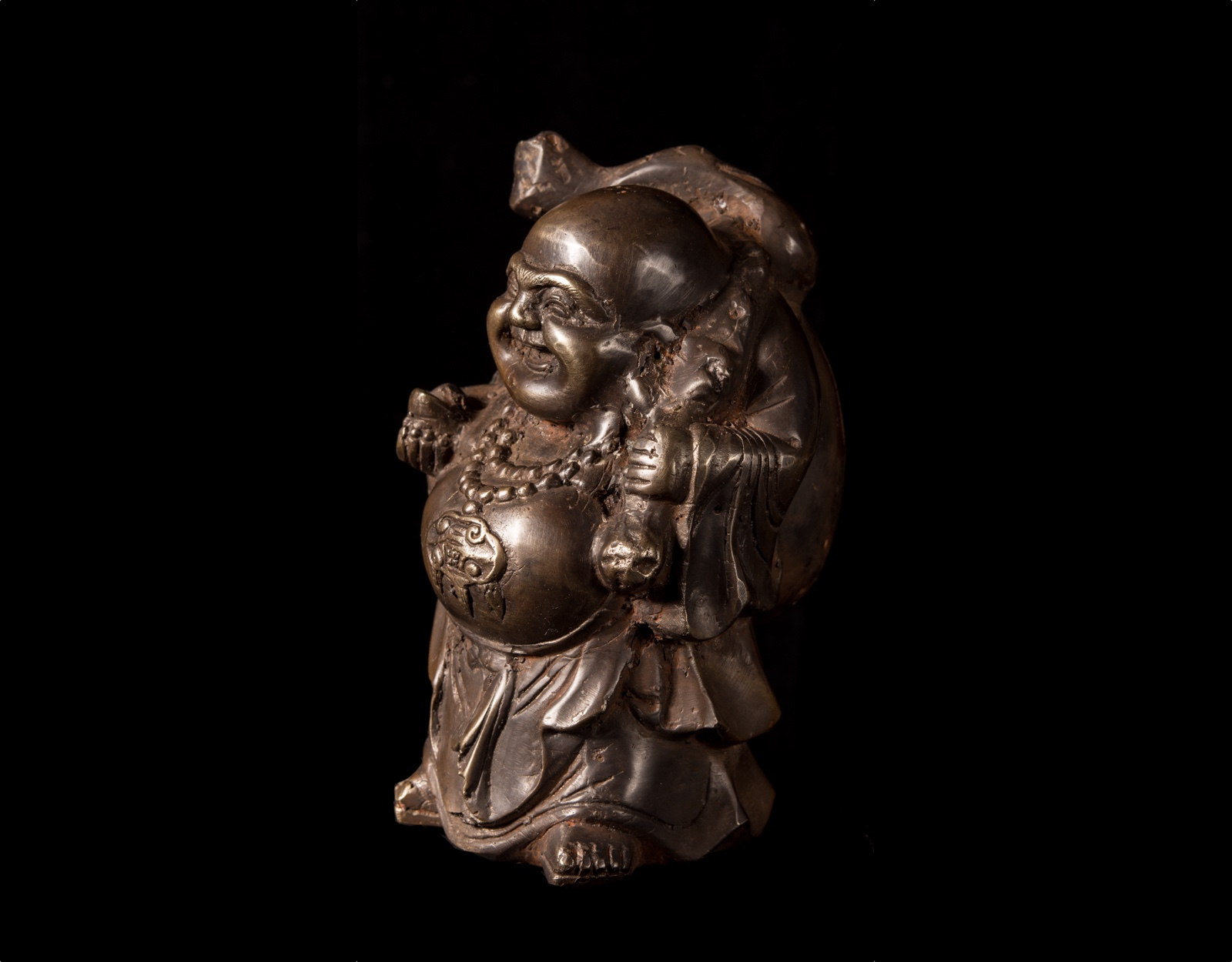 Бронзовая статуя Хотей бог богатства фото VipKeris
