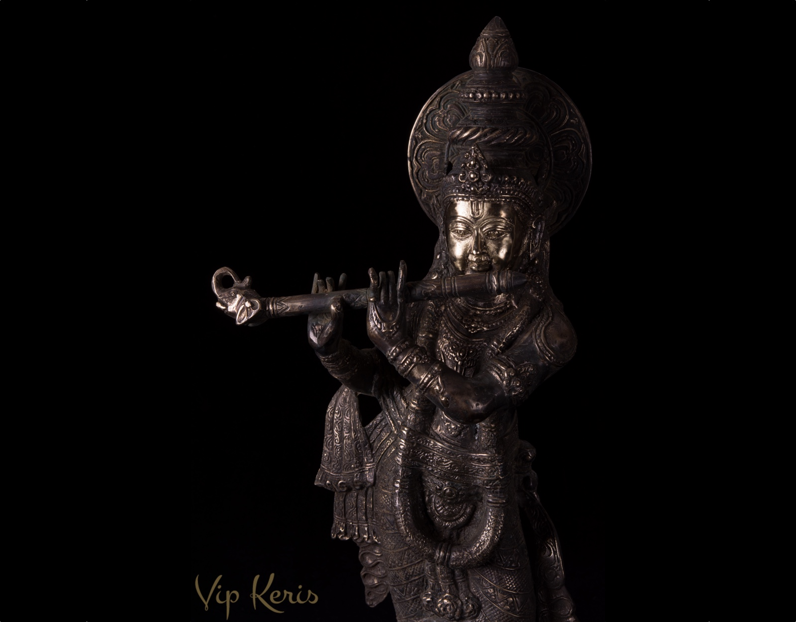 Бронзовая статуя Кришна, 70см. фото VipKeris