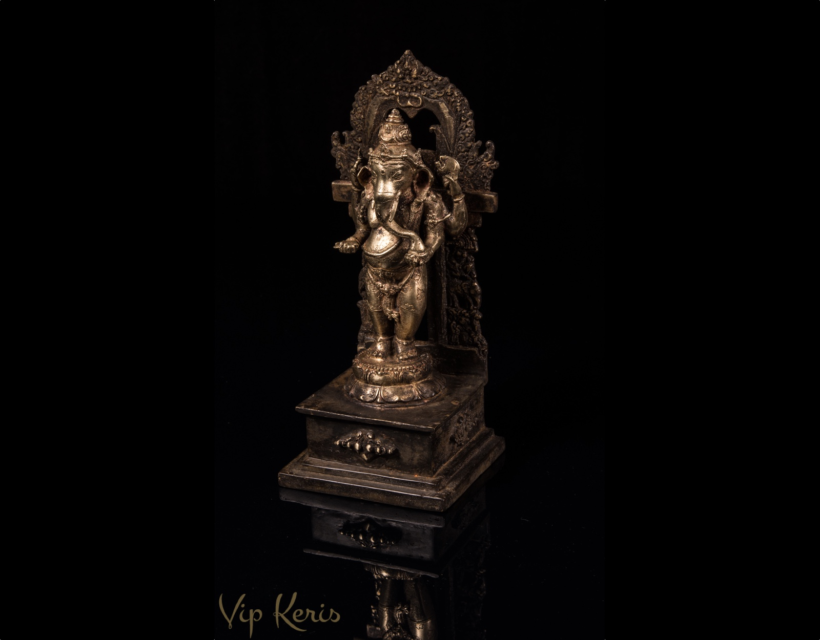 Алтарная старинная статуя Ганеша, 19см фото VipKeris