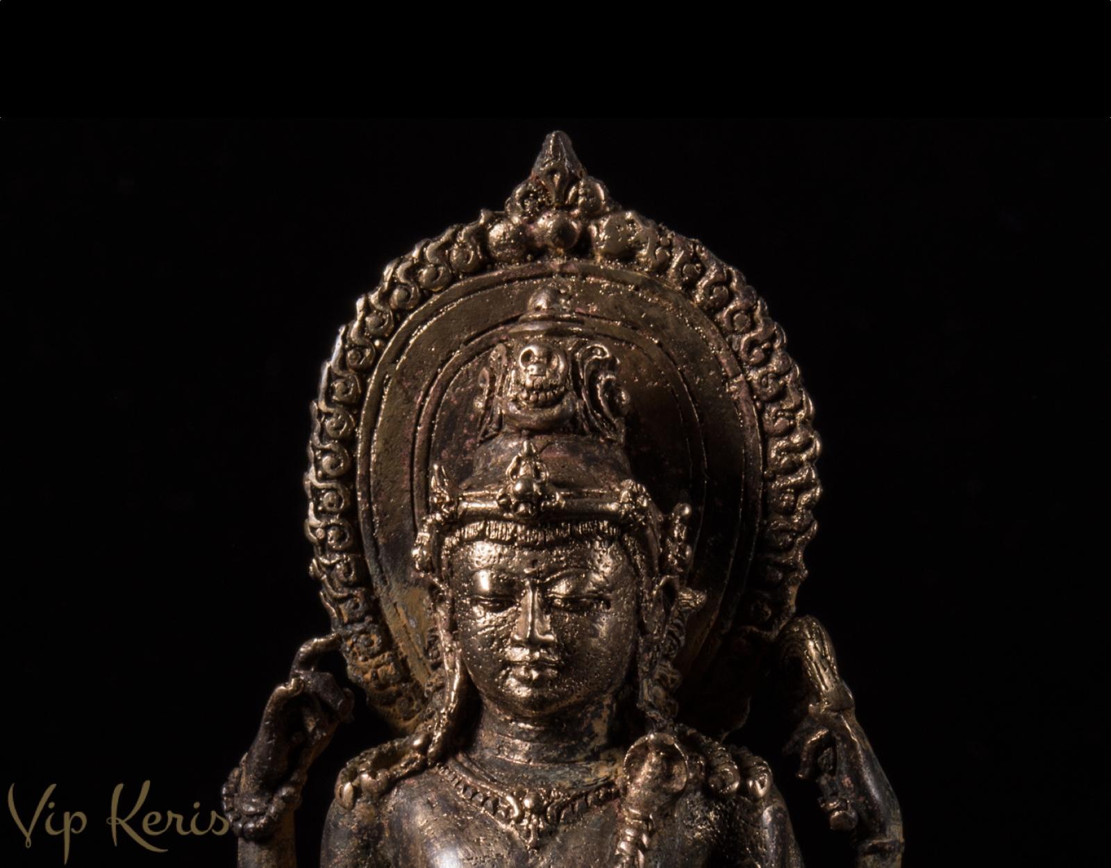 Бронзовая статуя Шива на быке Нанди фото VipKeris