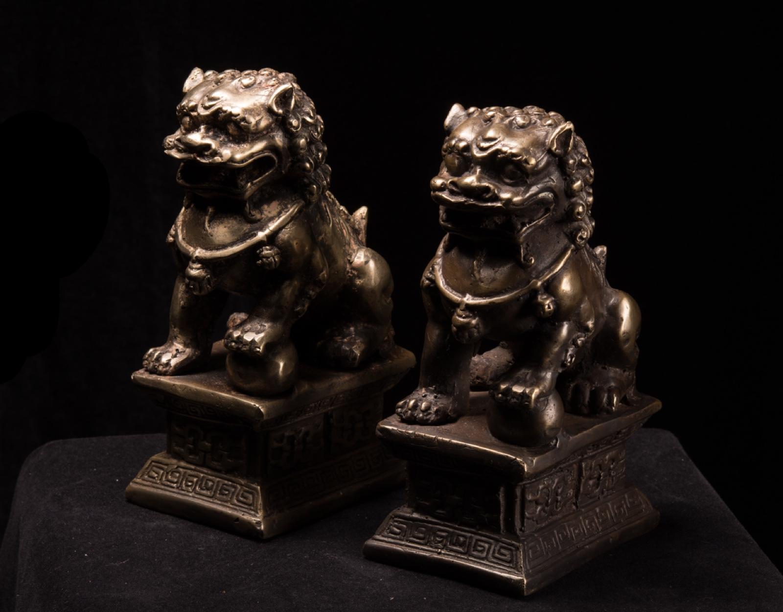 Бронзовые статуи тигров Kie Lin фото VipKeris