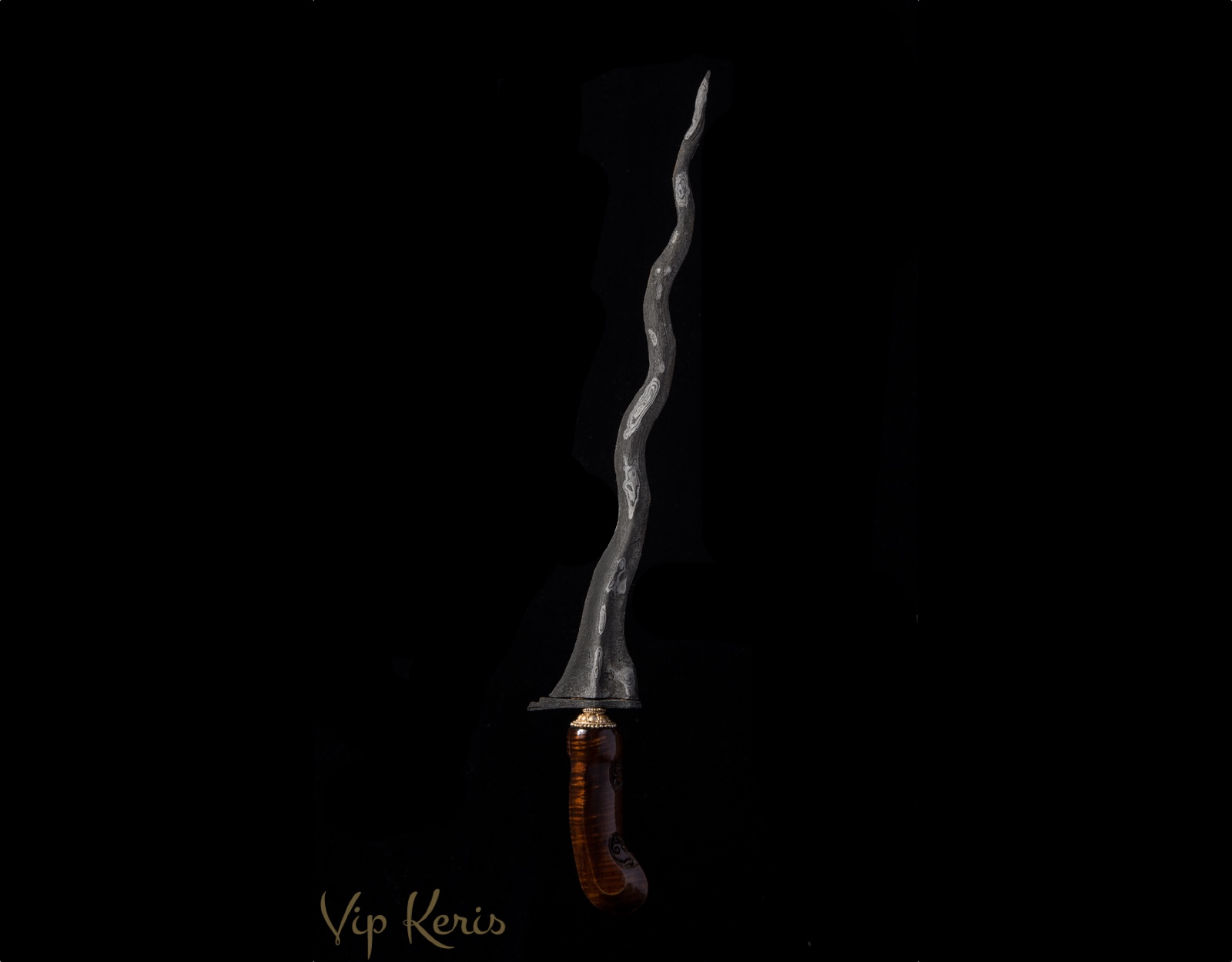 Кинжал Крис Buto Ijo 9 изгибов, 12 аркан фото VipKeris