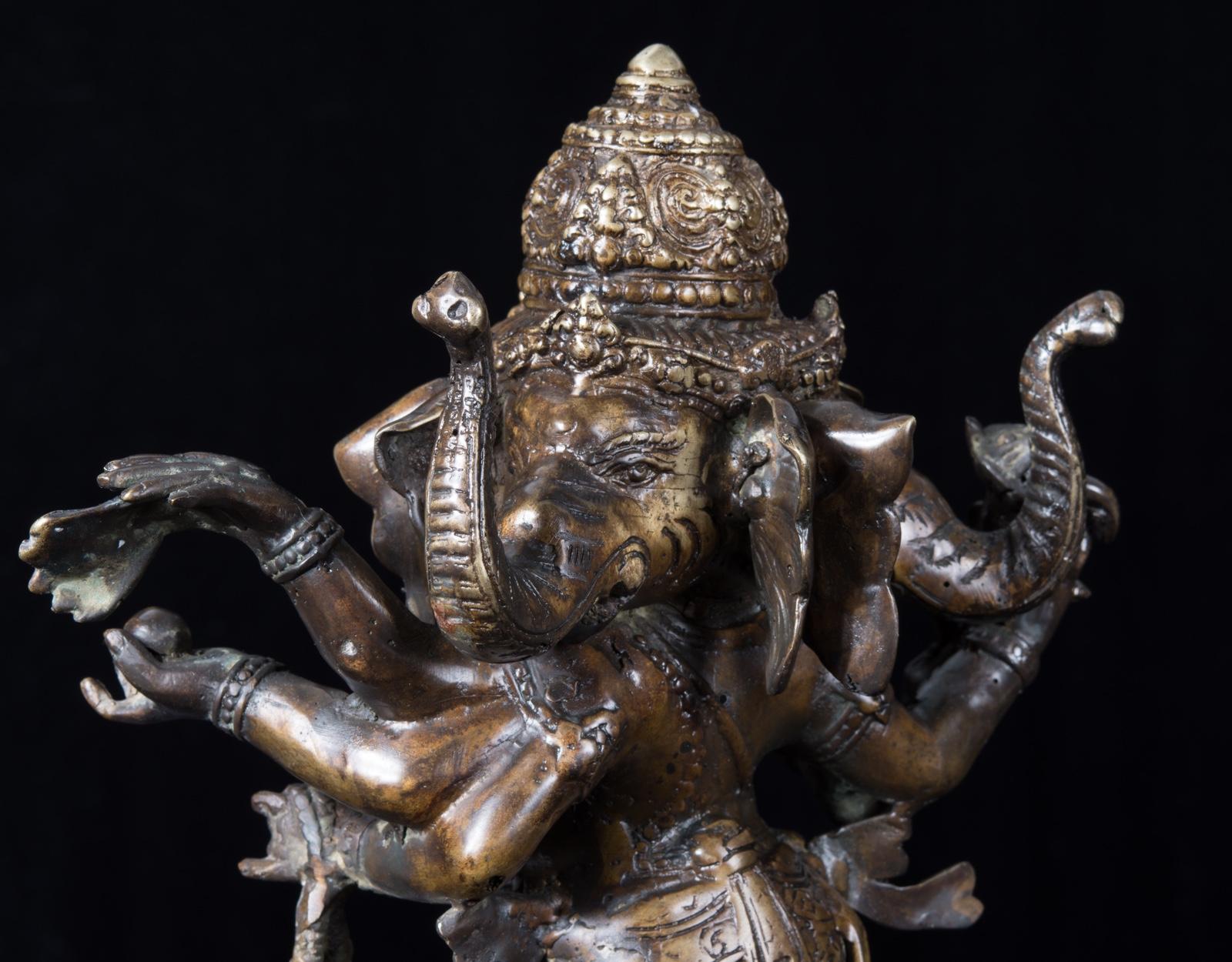 Бронзовая статуэтка Ганеша фото VipKeris