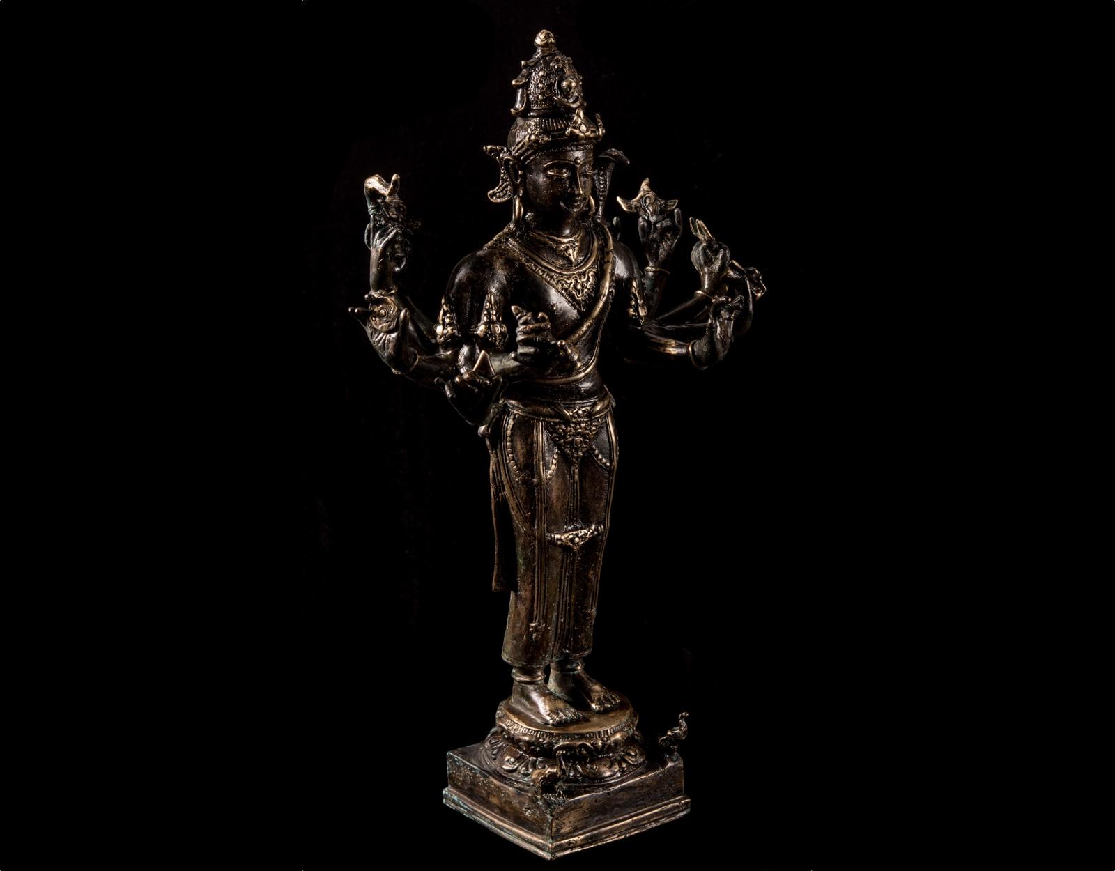 Бронзовая статуя Шива в медитации, 37см. фото VipKeris
