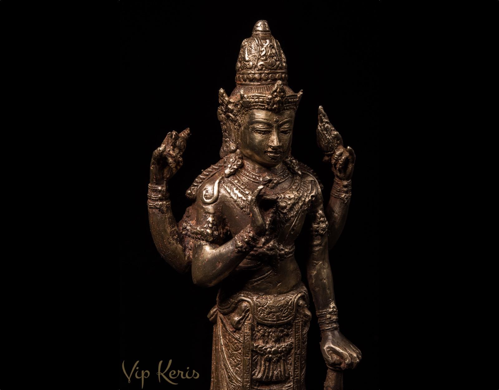 Антикварная статуэтка Вишну, бронза. фото VipKeris