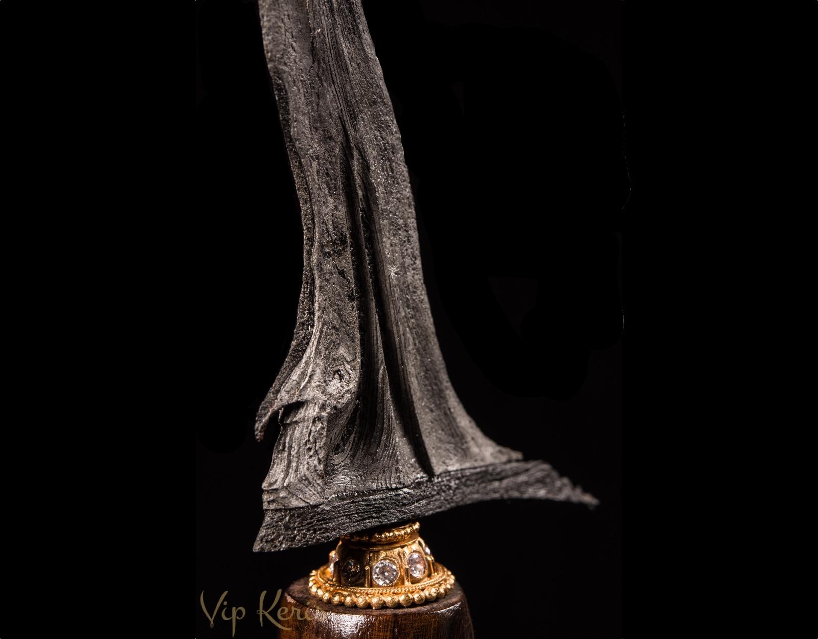 Крис Sengkelat Luk 13. Полный памор из метеоритного железа. фото VipKeris