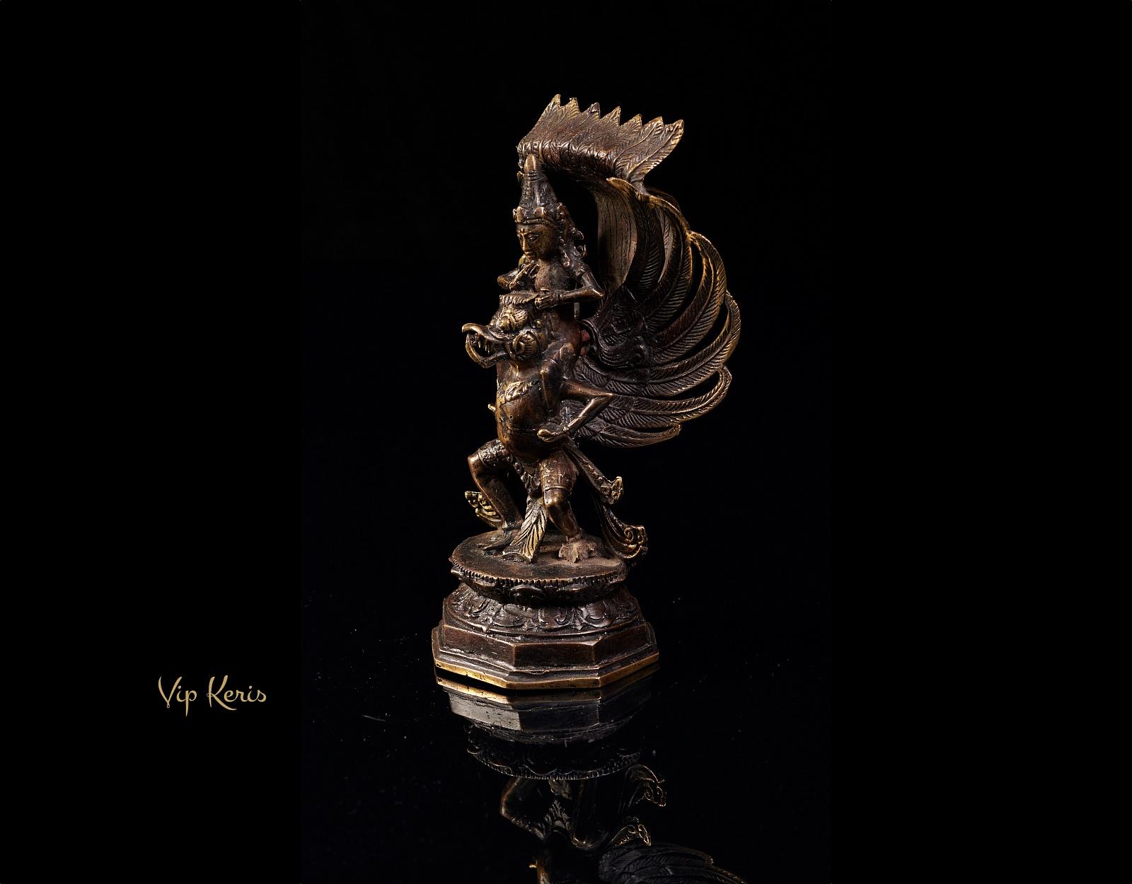 Старинная статуя Вишну на птице Гаруда, 20см фото VipKeris