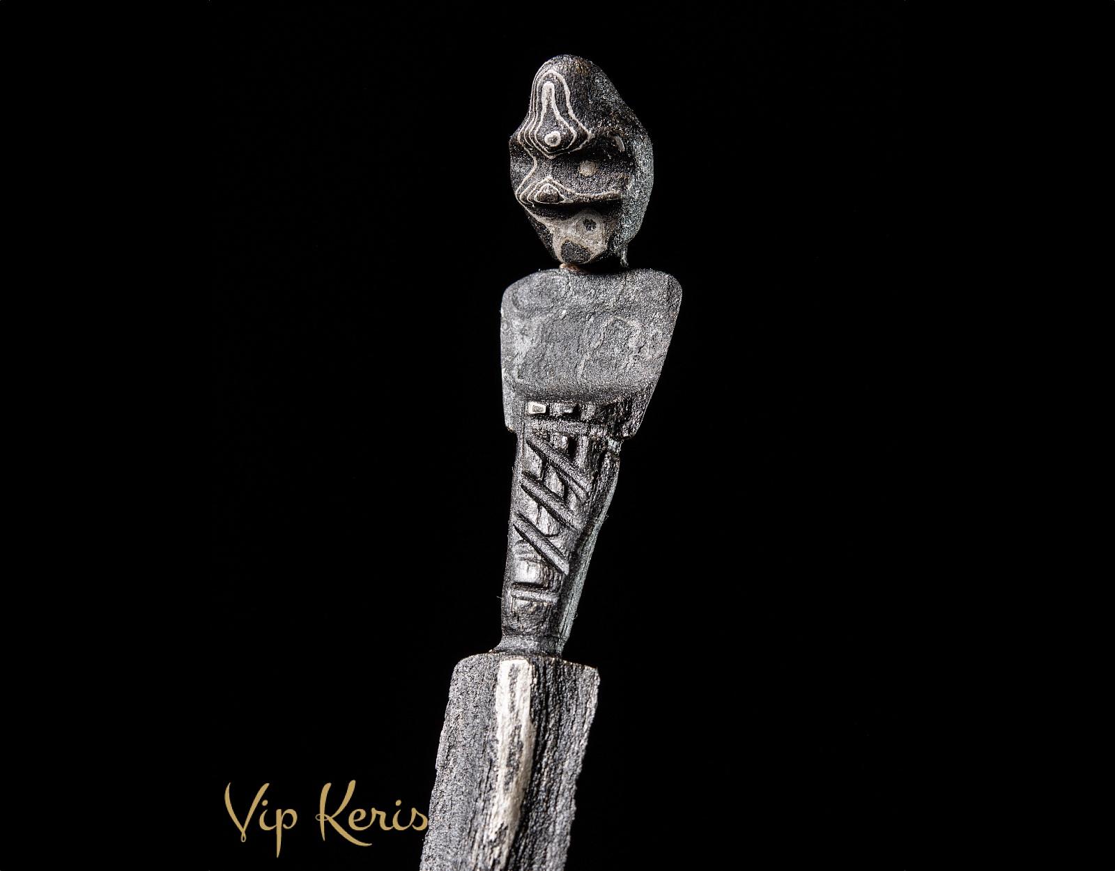 Прямой ритуальный кинжал Крис Sajen Sombro фото VipKeris