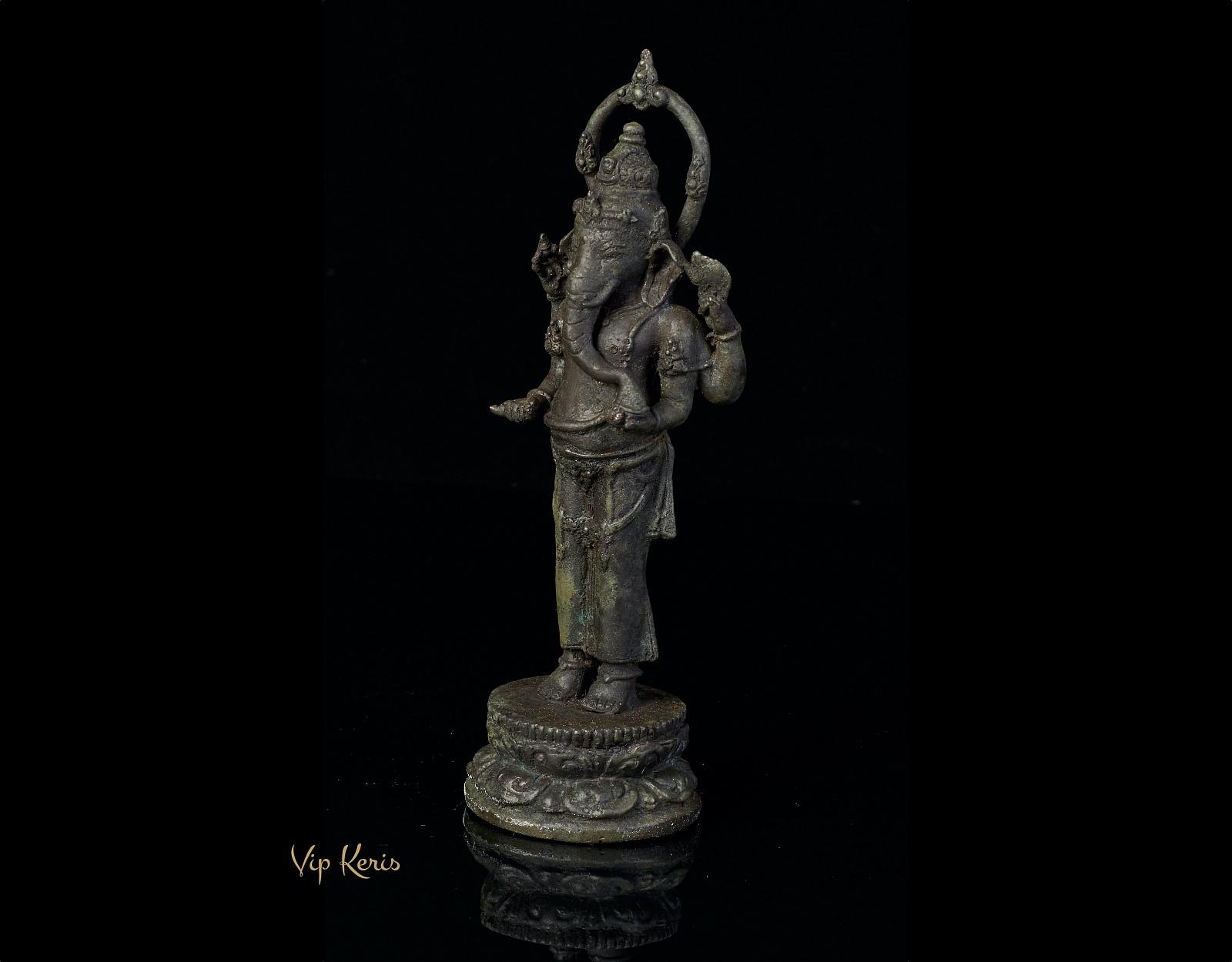Старинная статуя Ганеша, 23см. фото VipKeris