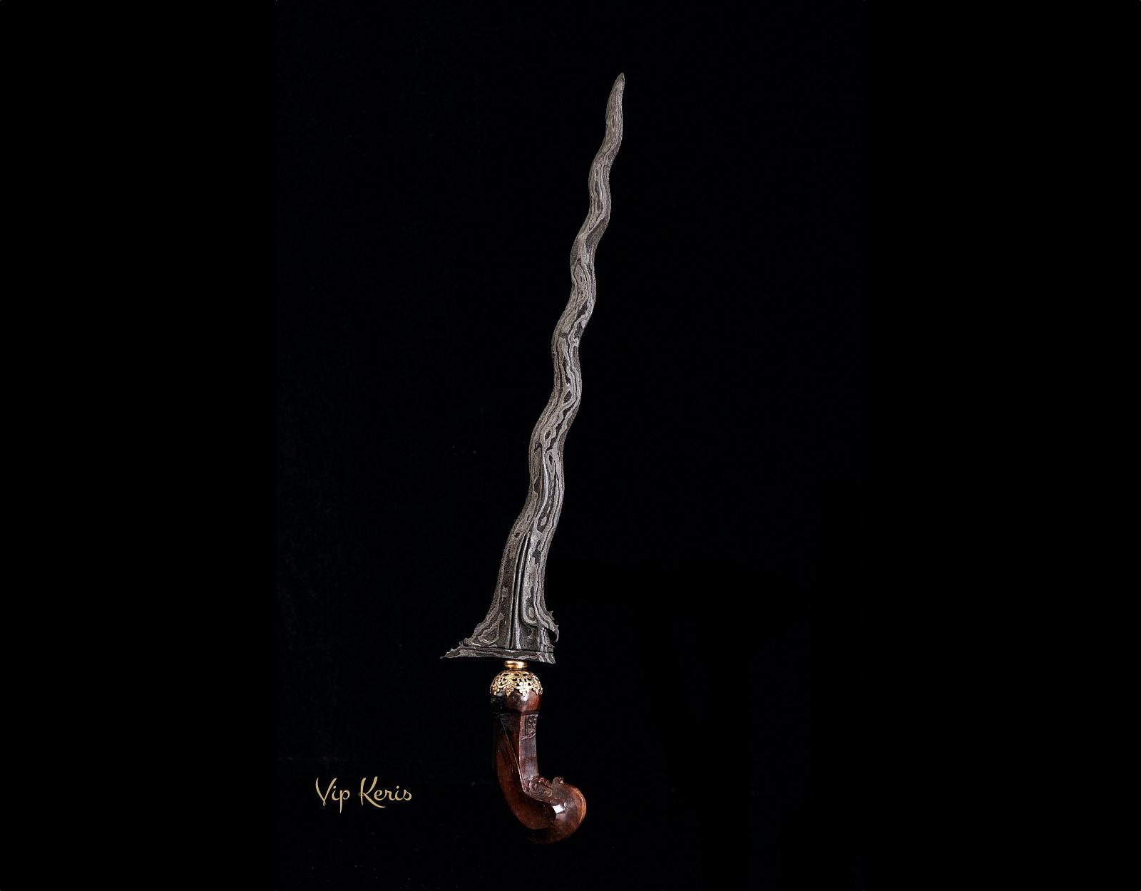 Пламевидный кинжал Крис Sabuk inten Luk 11 фото VipKeris