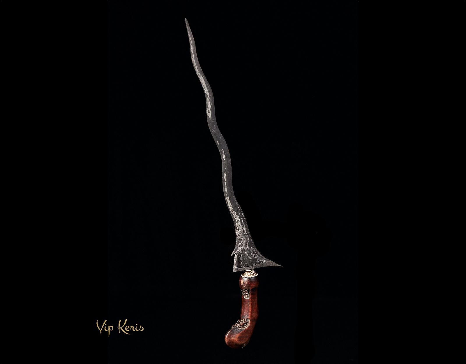Ритульный кинжал Крис Sempono Panjul Luk7, воздух фото VipKeris
