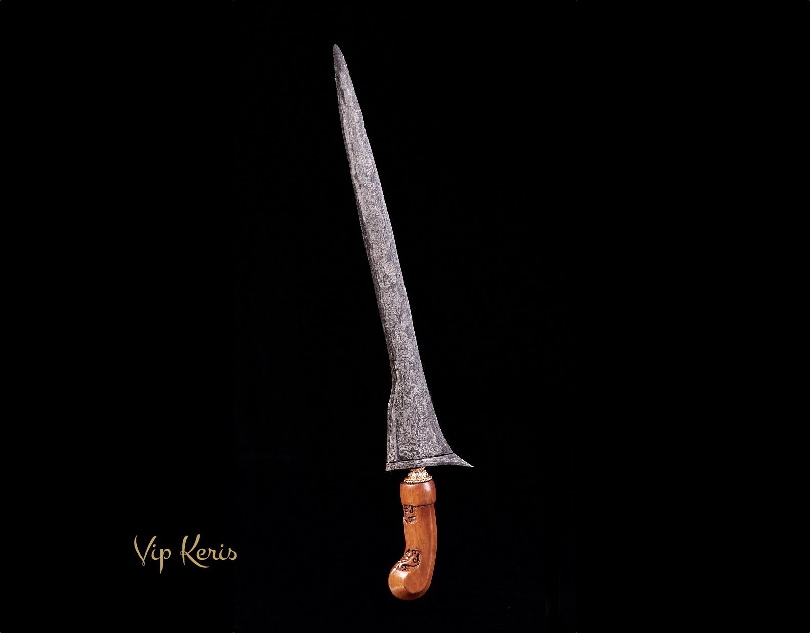 Индонезийский кинжал Крис Mahesa Kebo Lajer фото VipKeris