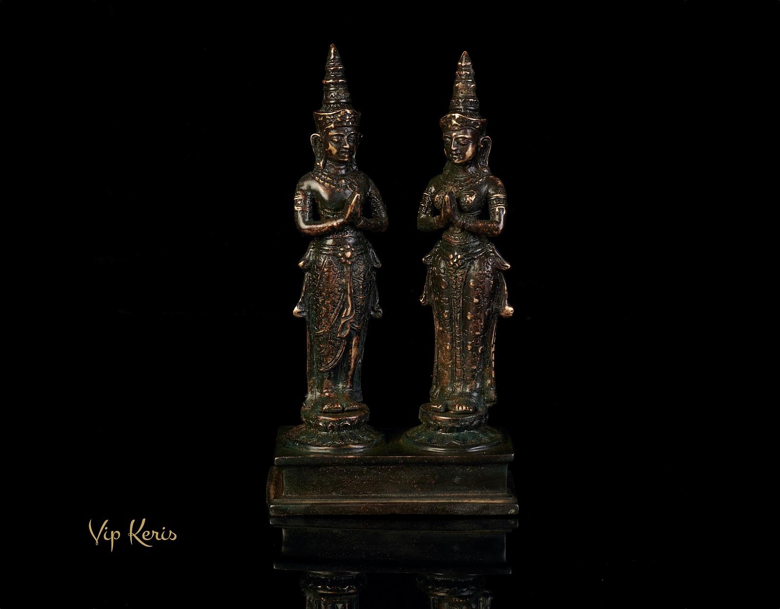 Старинная ритуальная статуя Мужчина и Женщина, 21см фото VipKeris