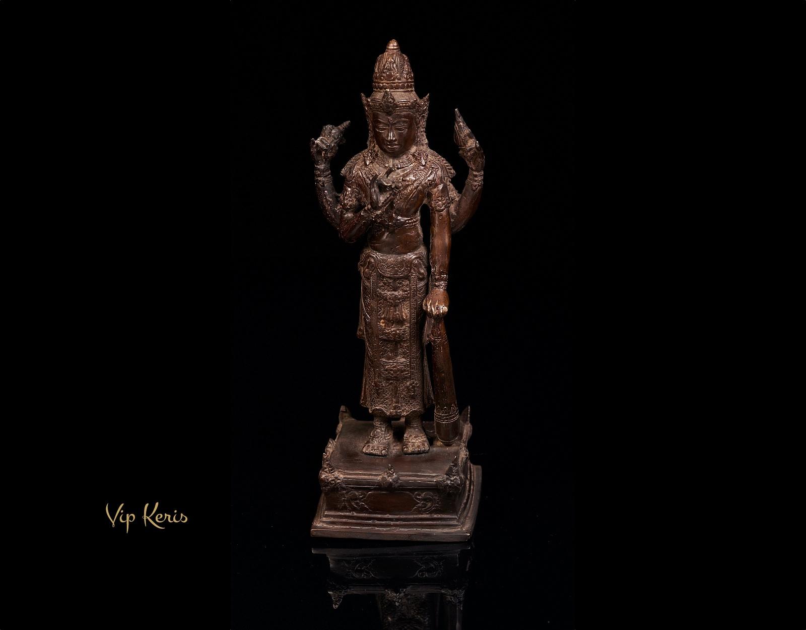 Старинная бронзовая статя Вишну, 30см фото VipKeris