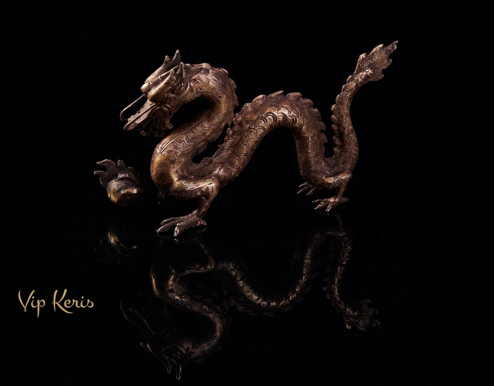 Бронзовая статуя Нага, стихия Огонь фото VipKeris