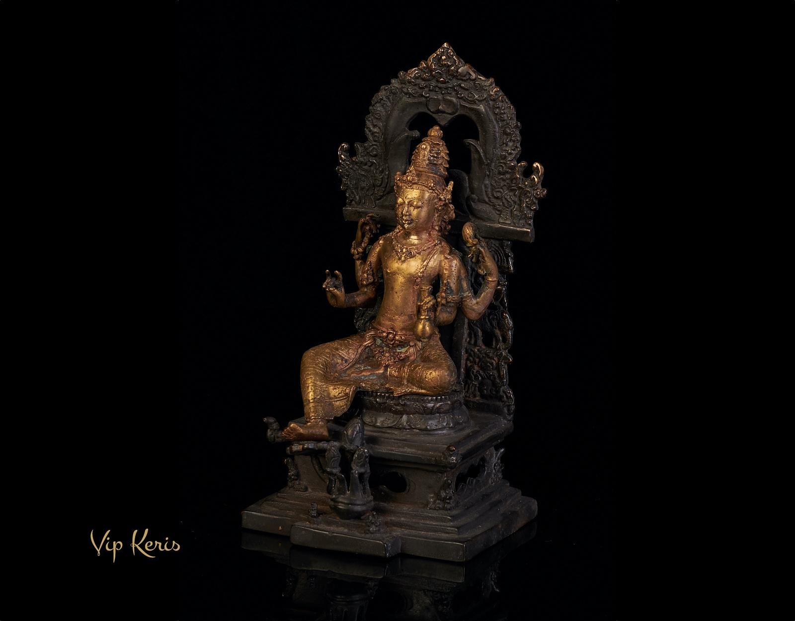 Старинная ритуальная статуя божества Syailendra, 20см фото VipKeris