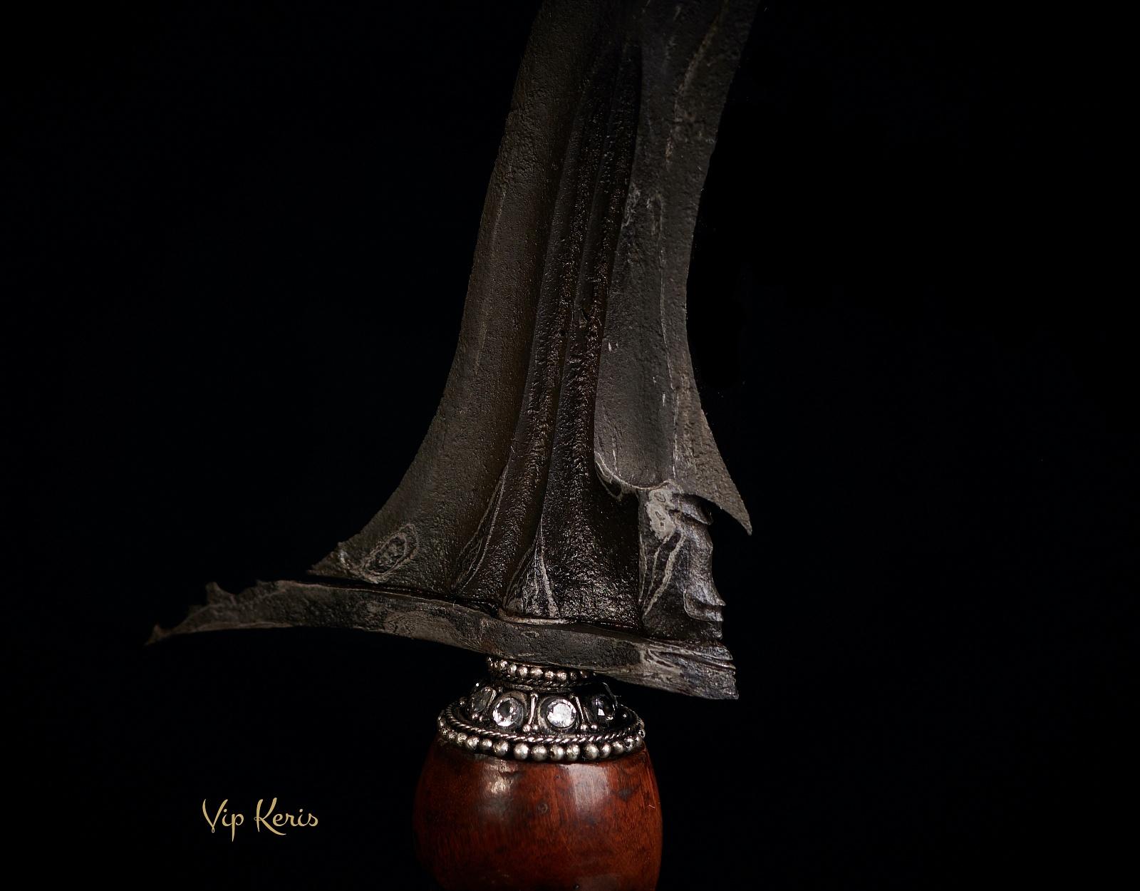 Пламевидный ритуальный Крис Сarito keprabon, 11 изгибов фото VipKeris