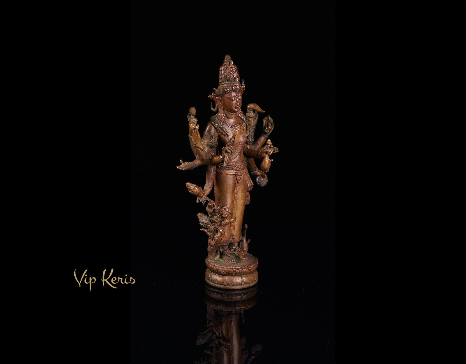 Алтарная бронзовая статуя Шивы, 24 см  фото VipKeris