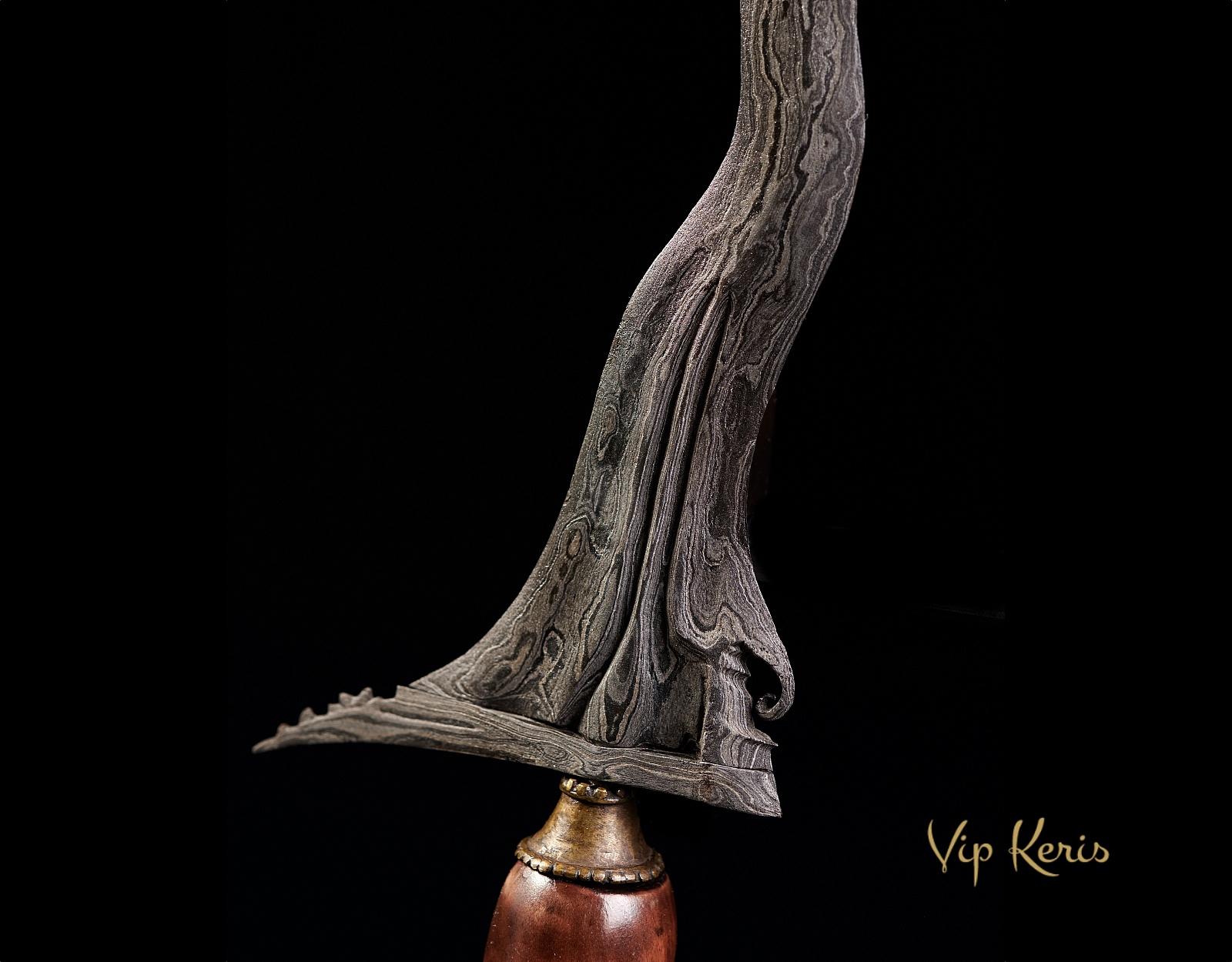 Кинжал Крис Sengkelat Luk13, боевая магия стихии Воздух фото VipKeris