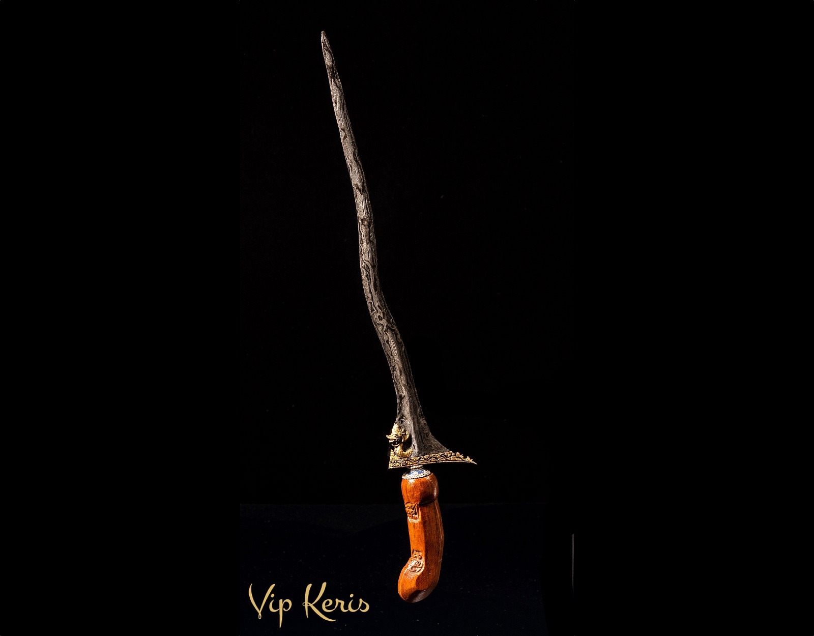 Крис кинжал Naga Siluman, kinatah gold фото VipKeris