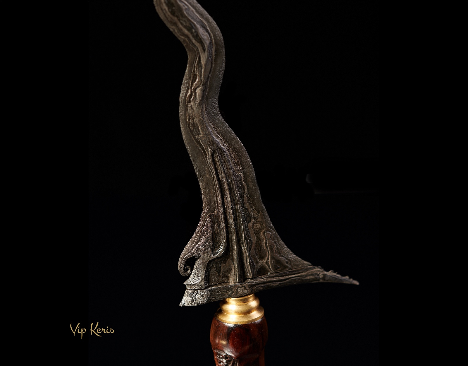 Пламевидный кинжал Крис Sengkelat Luk13, 7 аркан, Наг фото VipKeris