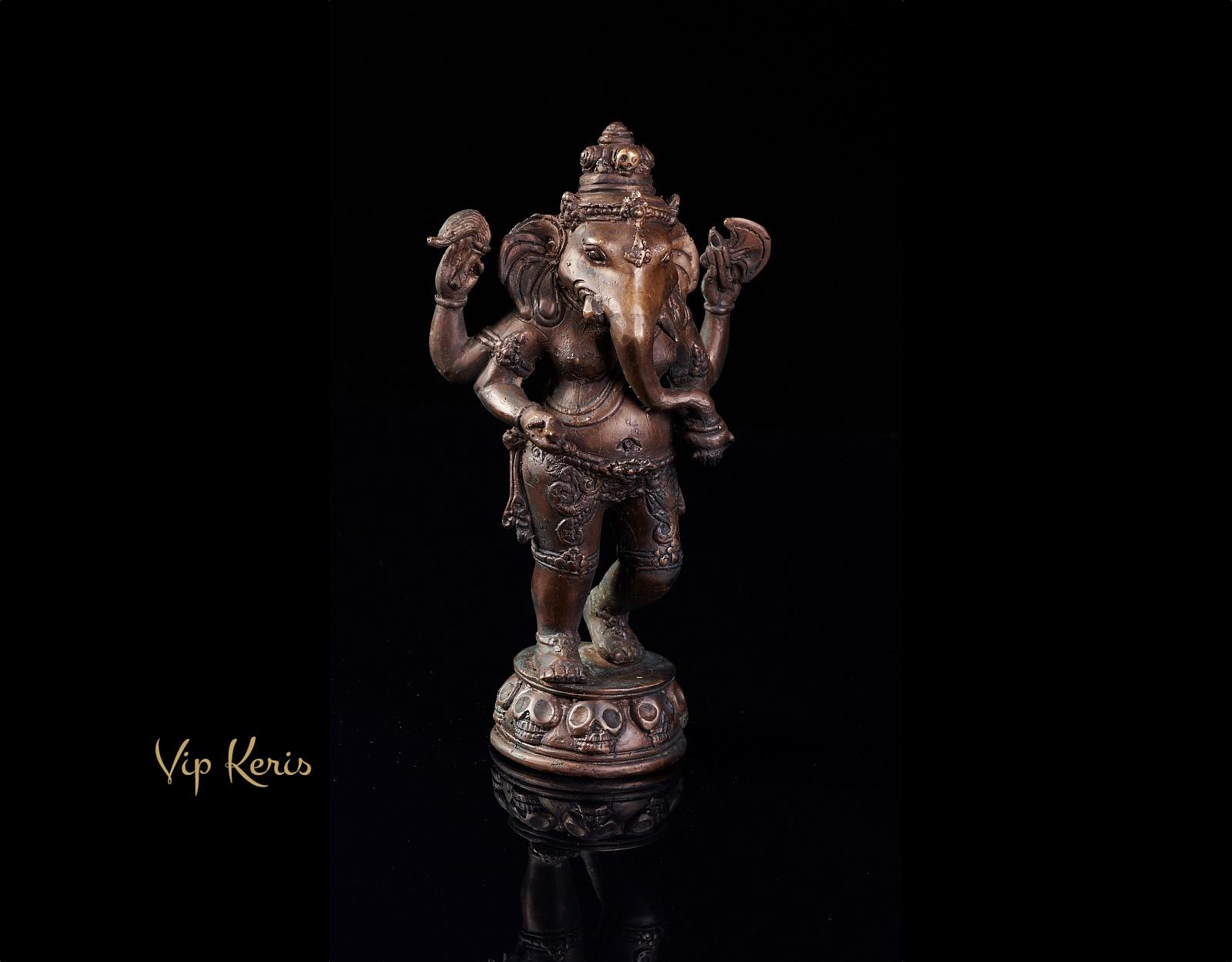Старинная бронзовая статуя Ганеша, 25см. фото VipKeris