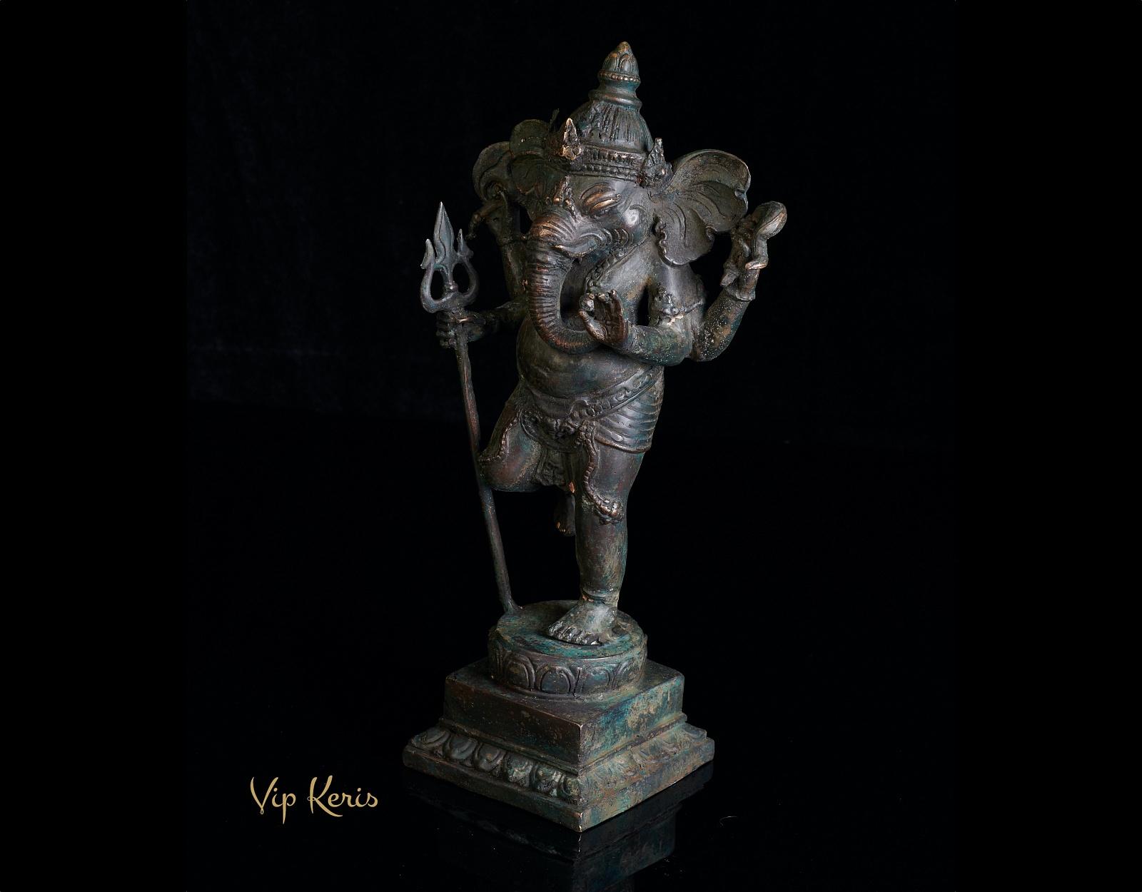 Старинная бронзовая статуя Ганеша, 26см фото VipKeris